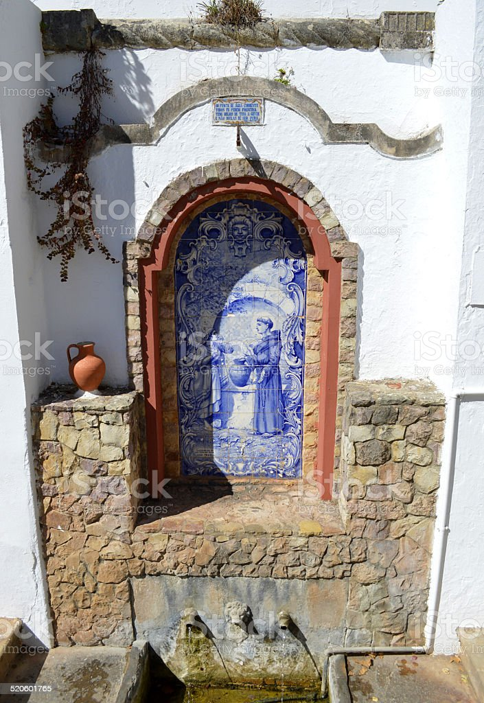 Spring water fountain in Alte, Portugal stock photo