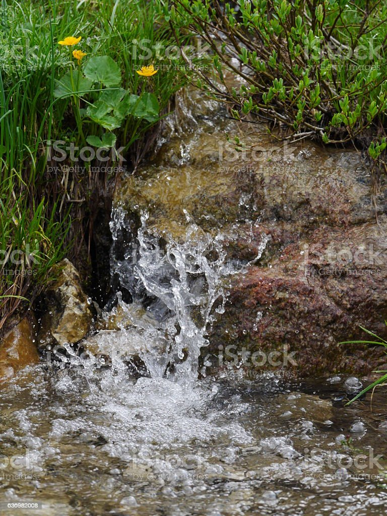 spring water fountain stock photo