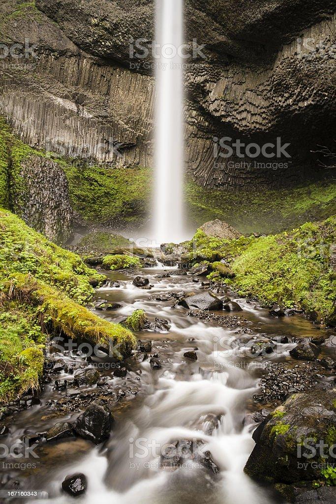 Spring waterfall stock photo