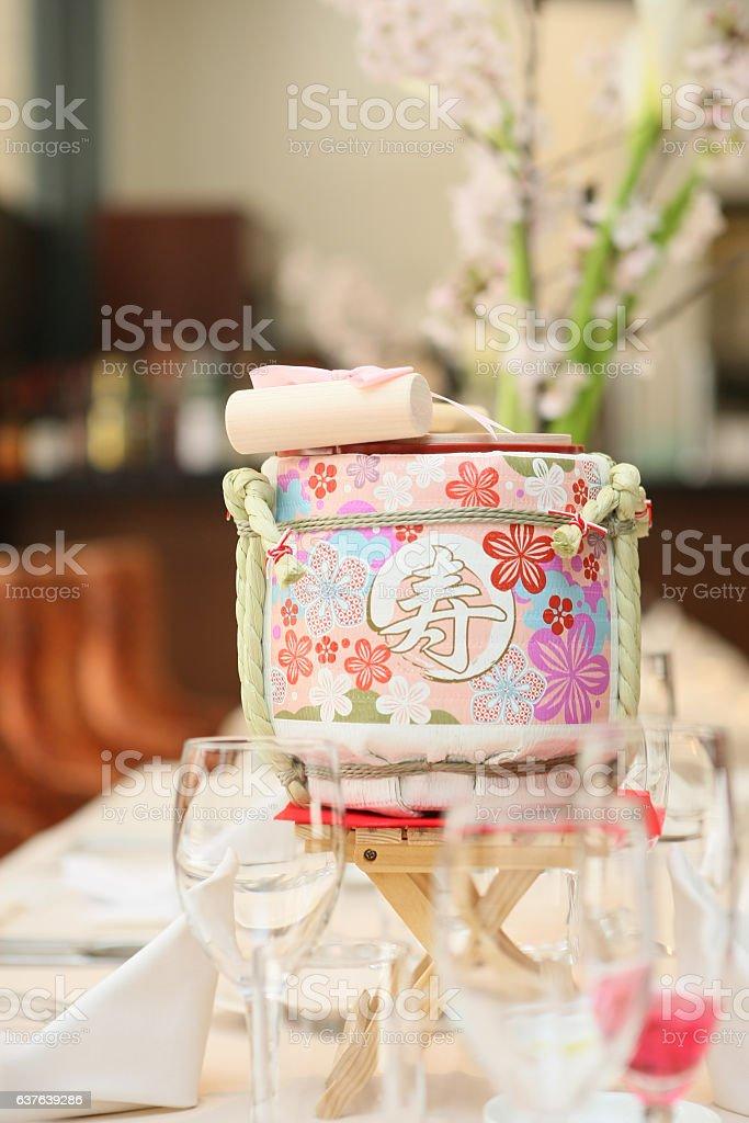 Spring wedding ceremony stock photo