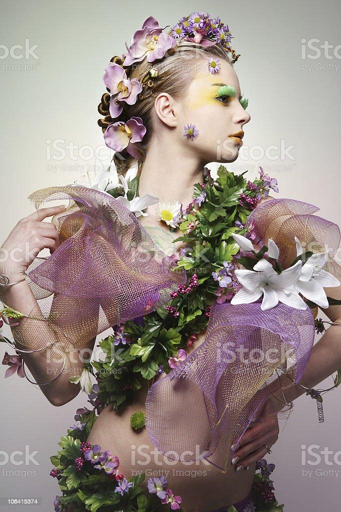 Spring woman. stock photo