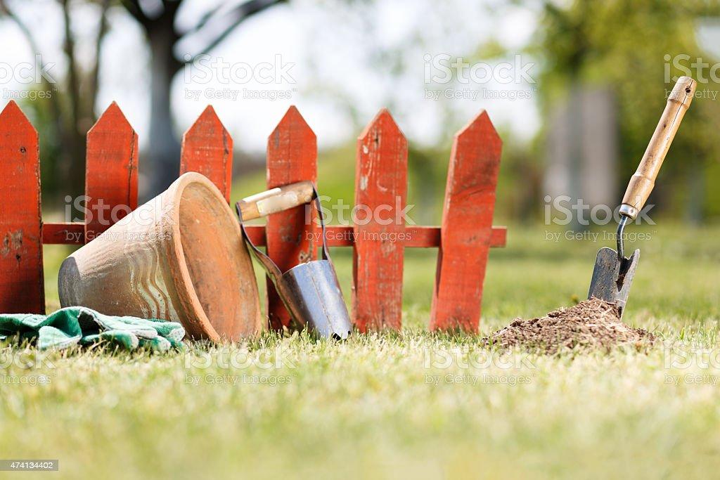 Spring works stock photo