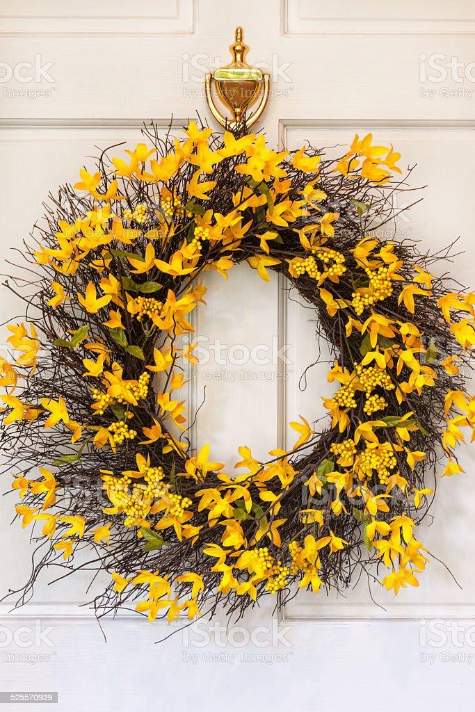 Spring Wreath stock photo