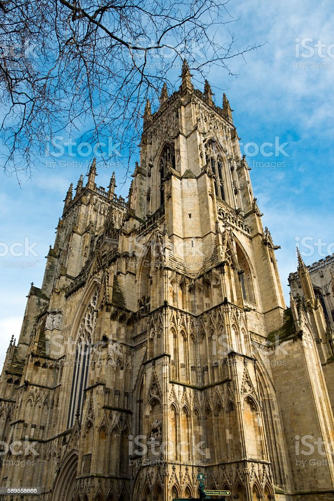 Spring, York Minster, UK stock photo