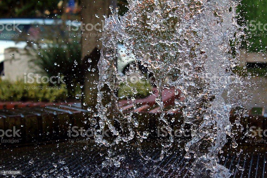 Springbrunnen stock photo
