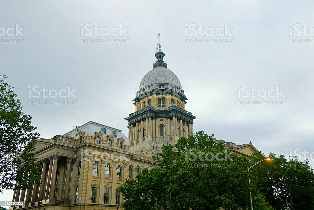 Springfield Capitol Dome and Building stock photo