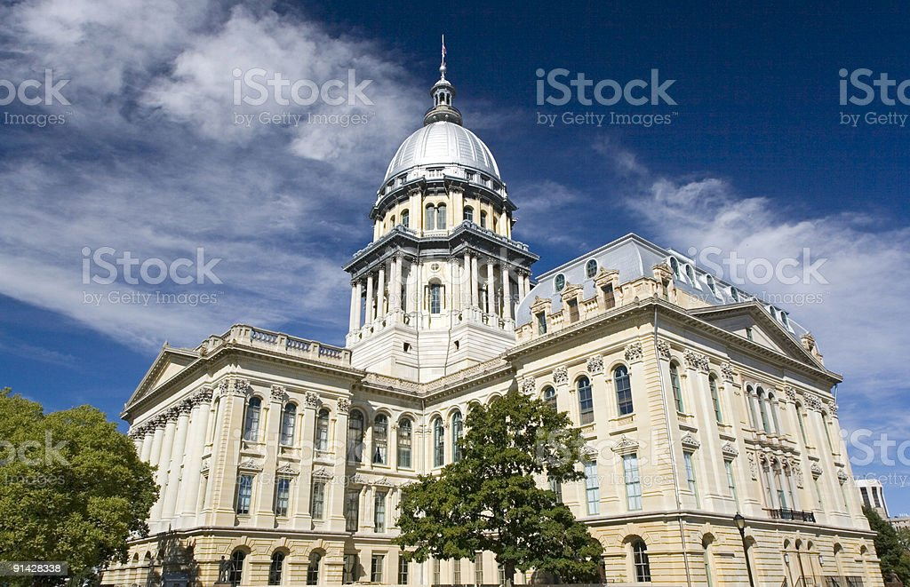 Springfield, Illinois capital building stock photo