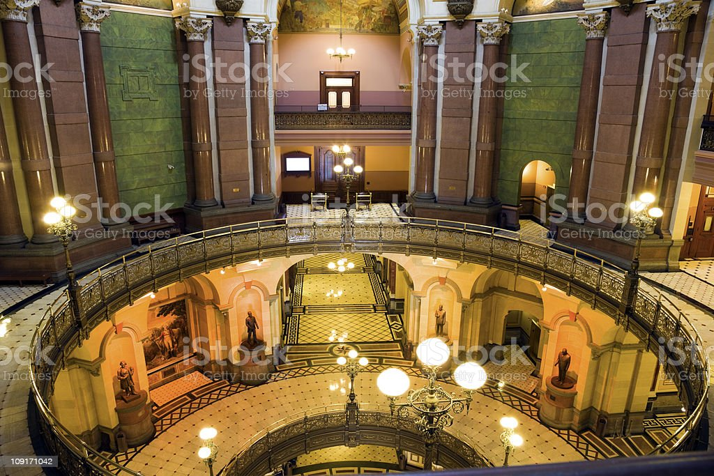 Springfield, Illinois - State Capitol stock photo