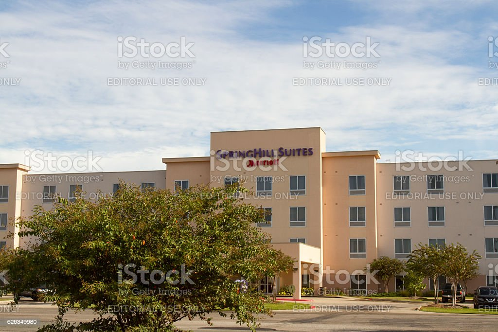 Springhill Suites, a Marriott brand chain hotel stock photo