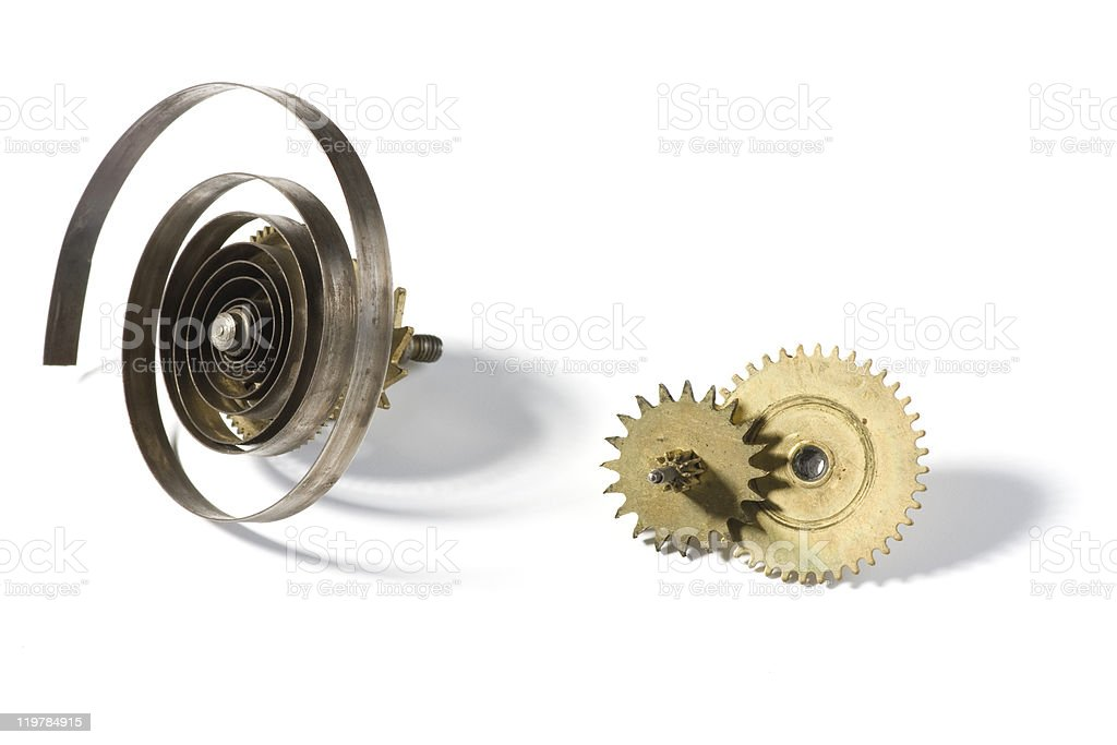 Springs and gears royalty-free stock photo