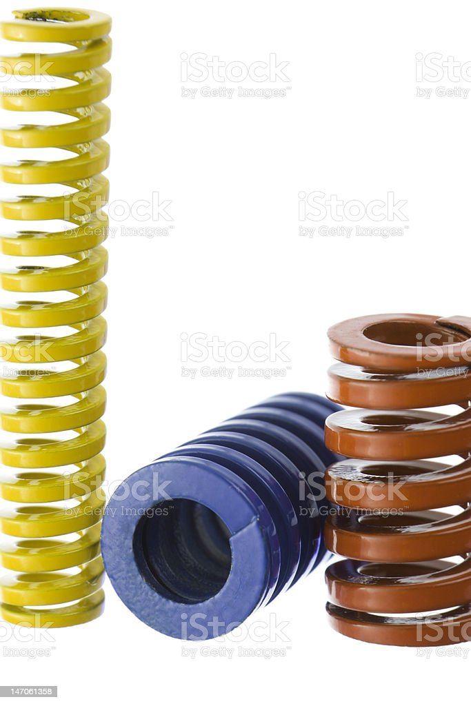 Springs isolated royalty-free stock photo