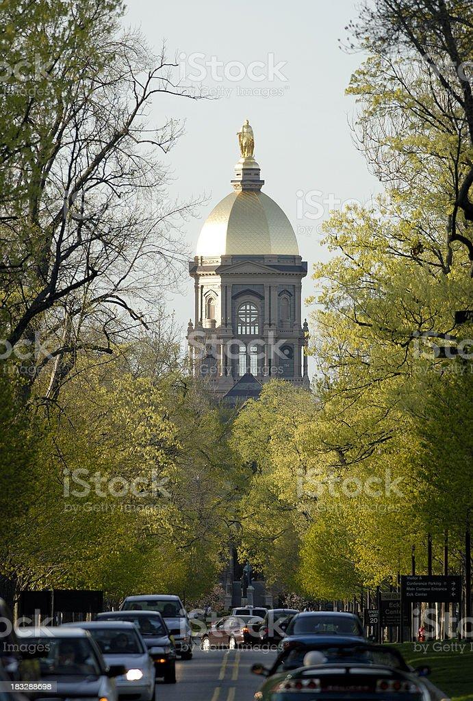 Springtime at Notre Dame stock photo