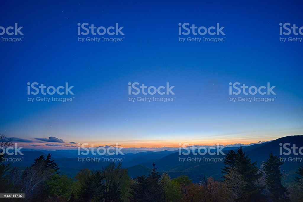 Springtime at Scenic Blue Ridge Parkway Appalachians Smoky Mount stock photo