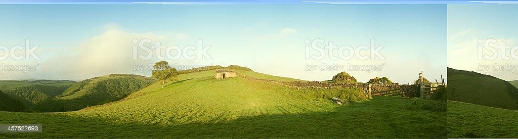 Springtime farming landscape, England. royalty-free stock photo