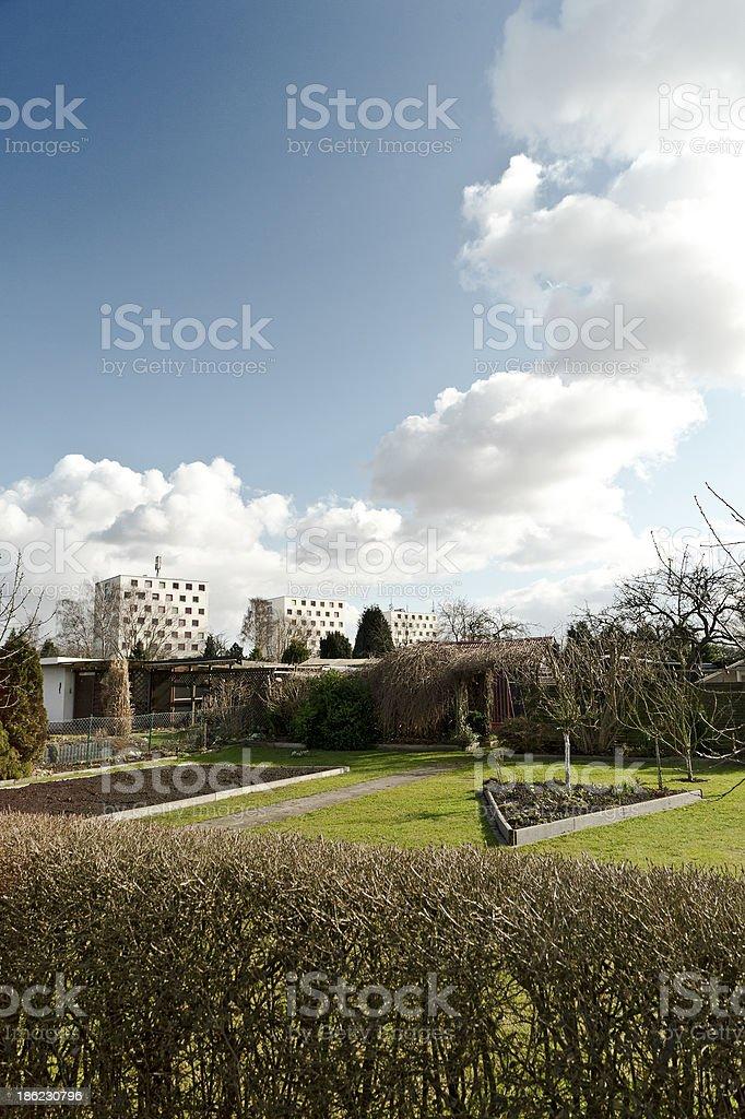 Springtime in a garden lot royalty-free stock photo