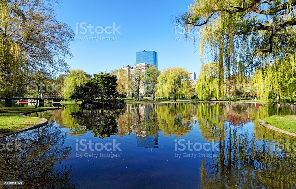 Springtime in Boston stock photo