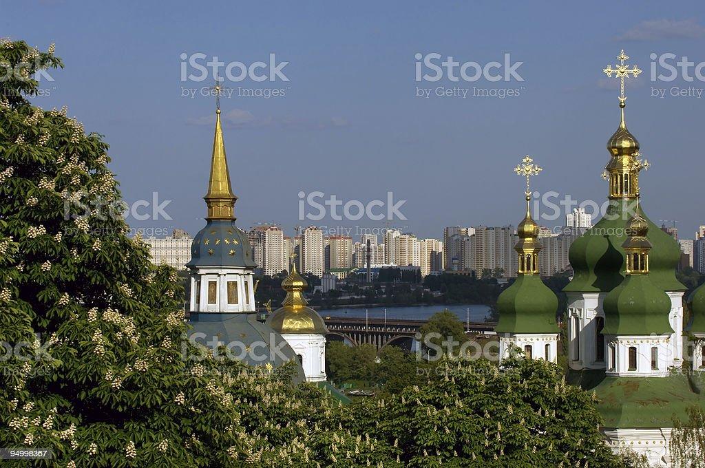 Springtime in Kiev stock photo