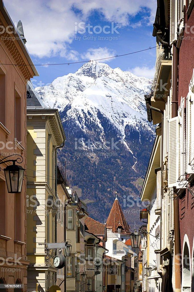 Springtime in Meran in South Tyrol, Italy stock photo