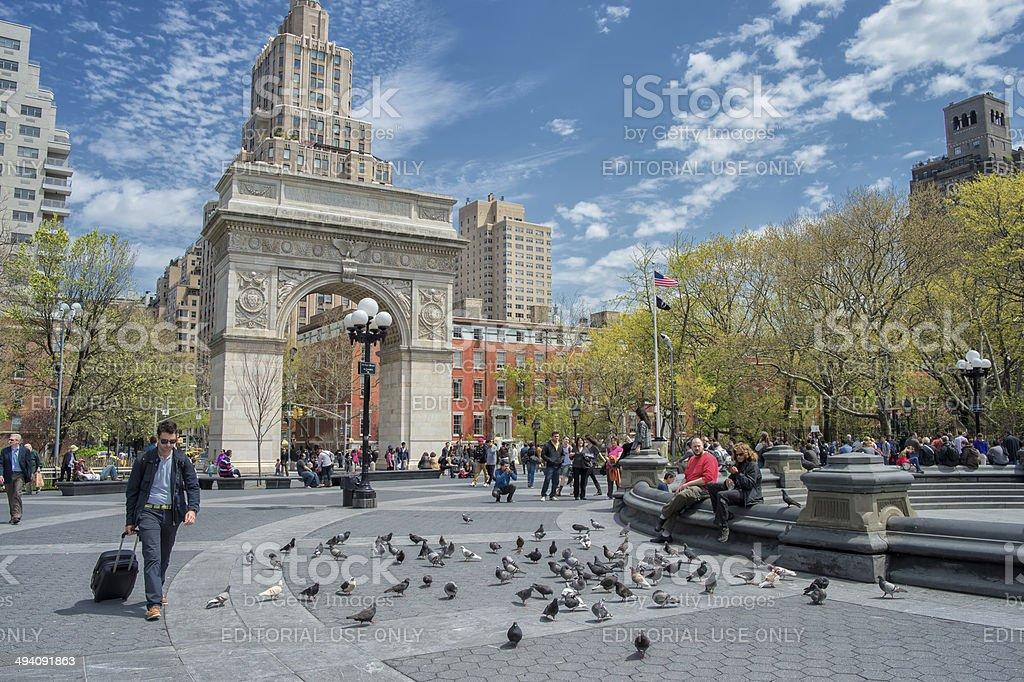Springtime in New York City stock photo