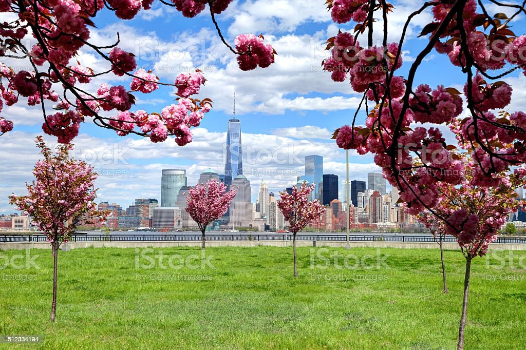 Springtime in New York City stock photo