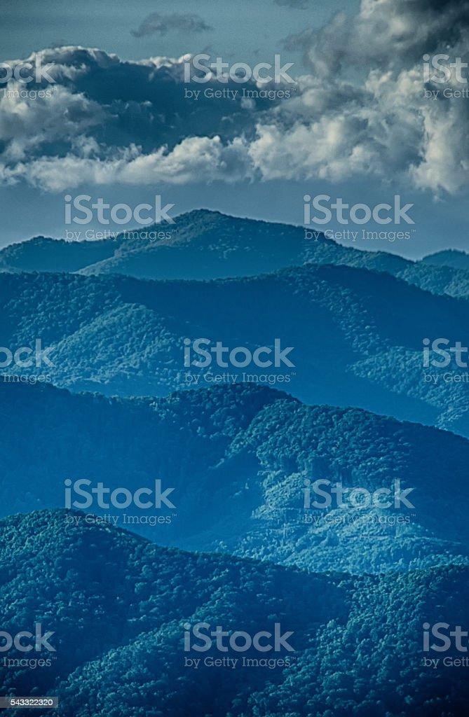 springtime in the blue ridge mountains stock photo