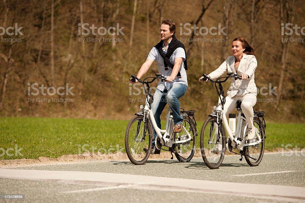 Springtime on a cycle stock photo