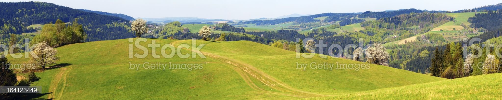 springtime view from Carpathian Mountains royalty-free stock photo