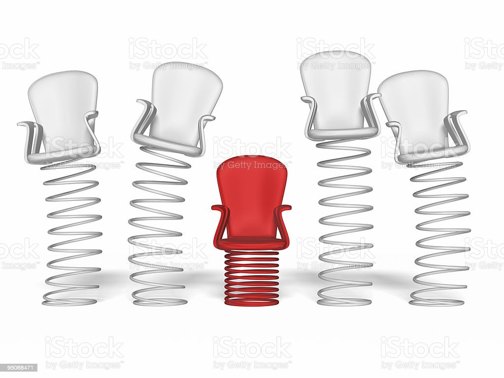 springy chairs stock photo