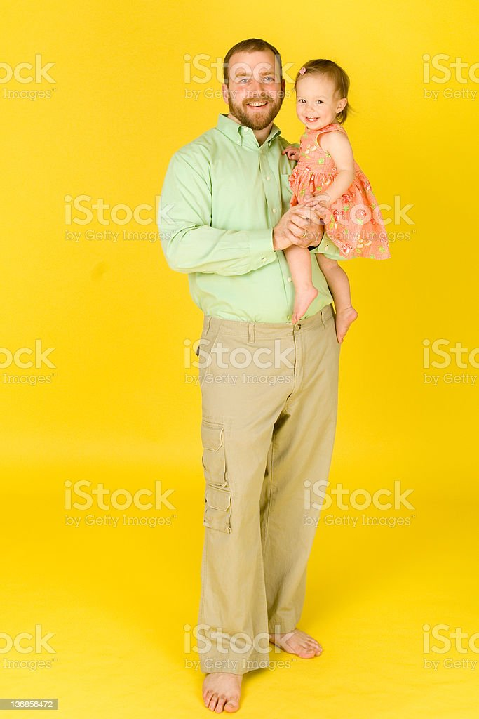 Springy Father Daughter Portrait stock photo