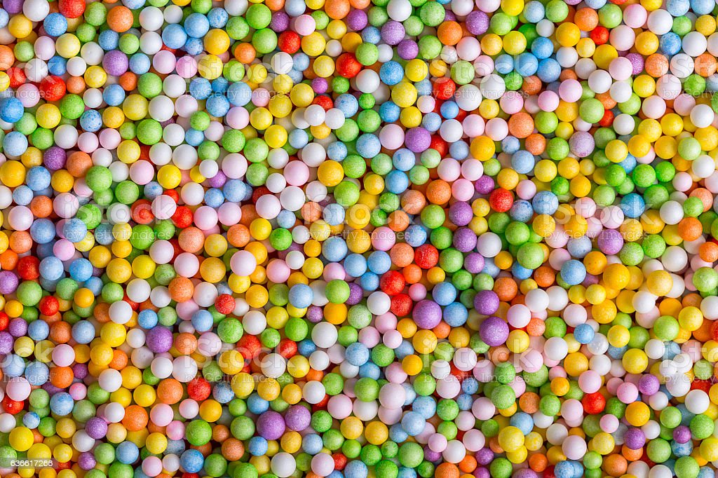 Sprinkle Sugar candy stock photo
