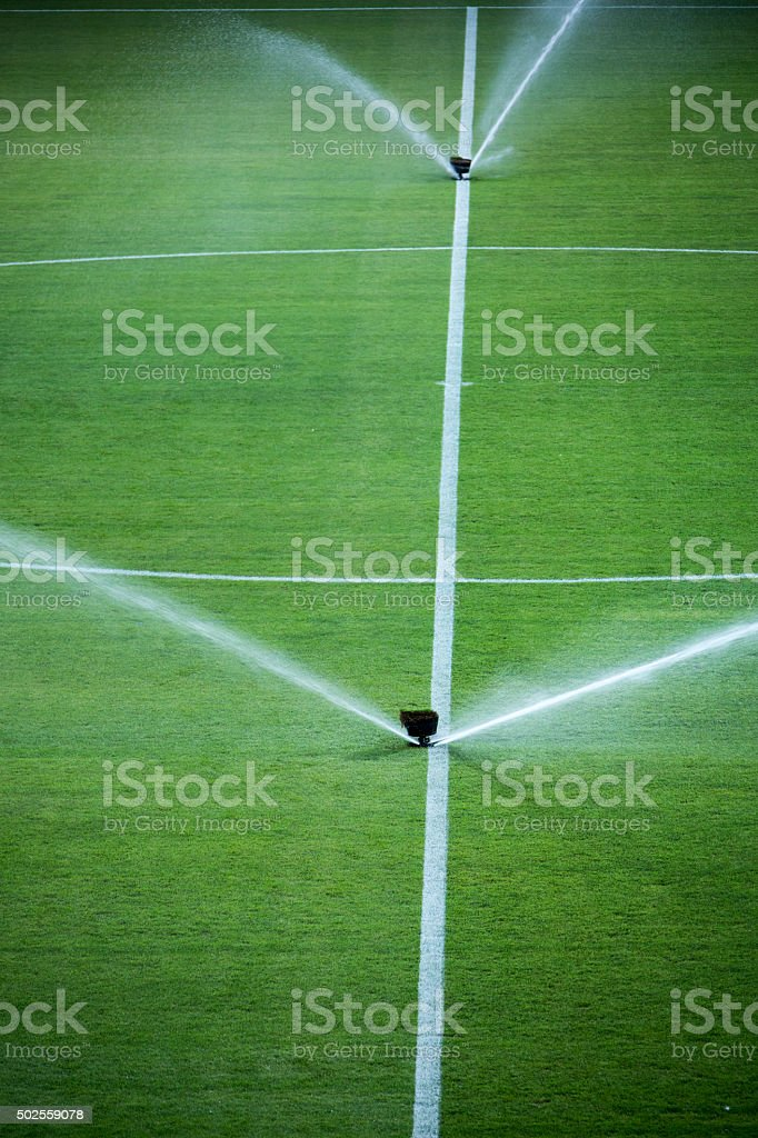 sprinkler stock photo