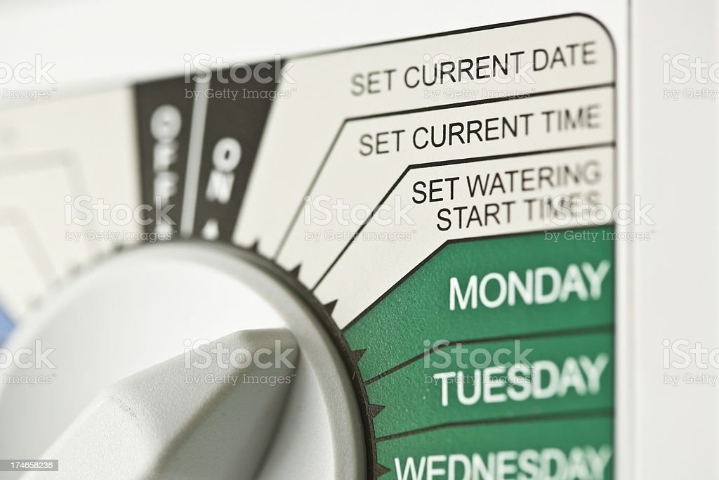 Sprinkler timer royalty-free stock photo
