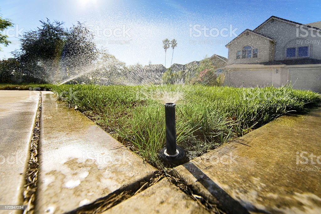 Sprinklers Low stock photo