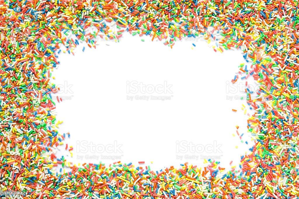 Sprinkles frame stock photo