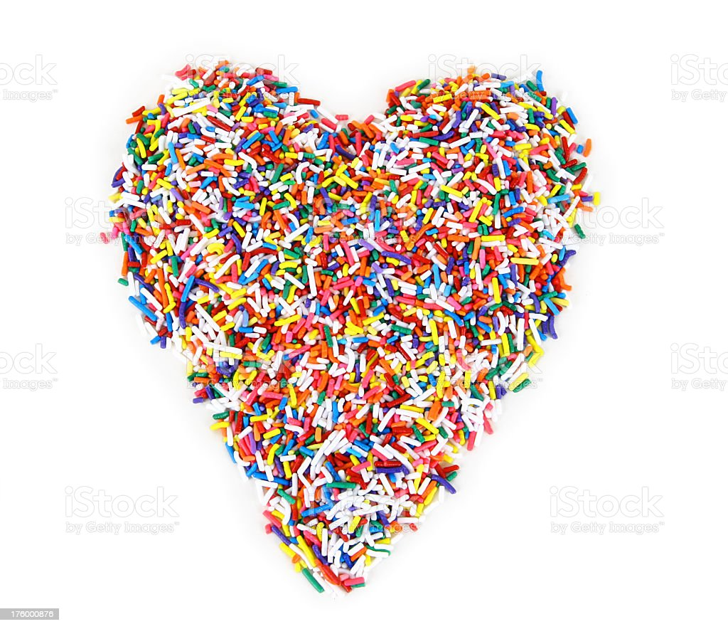 Sprinkles -Heart royalty-free stock photo