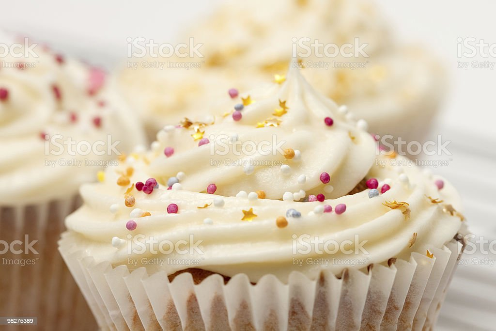 Sprinkles on Cupcakes Macro stock photo