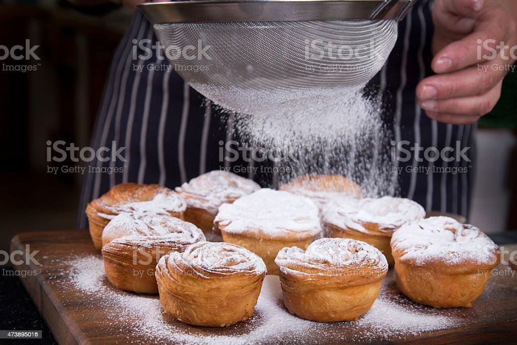 Sprinkling Cakes stock photo