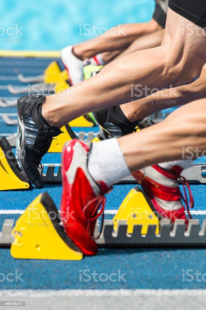 Sprint action start stock photo