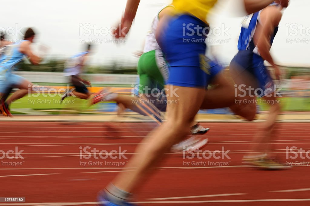 Sprint at 100 m royalty-free stock photo