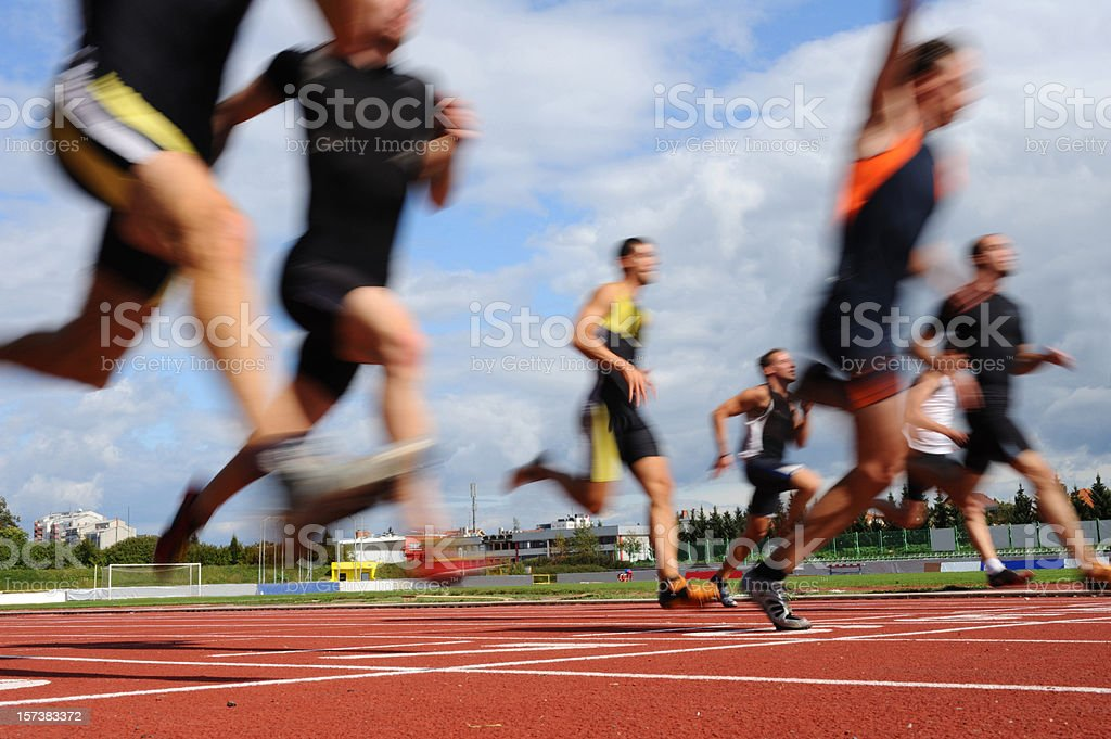 Sprint competition royalty-free stock photo