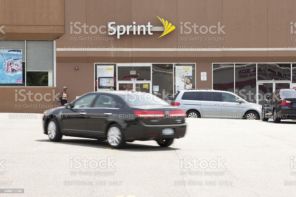 Sprint stock photo
