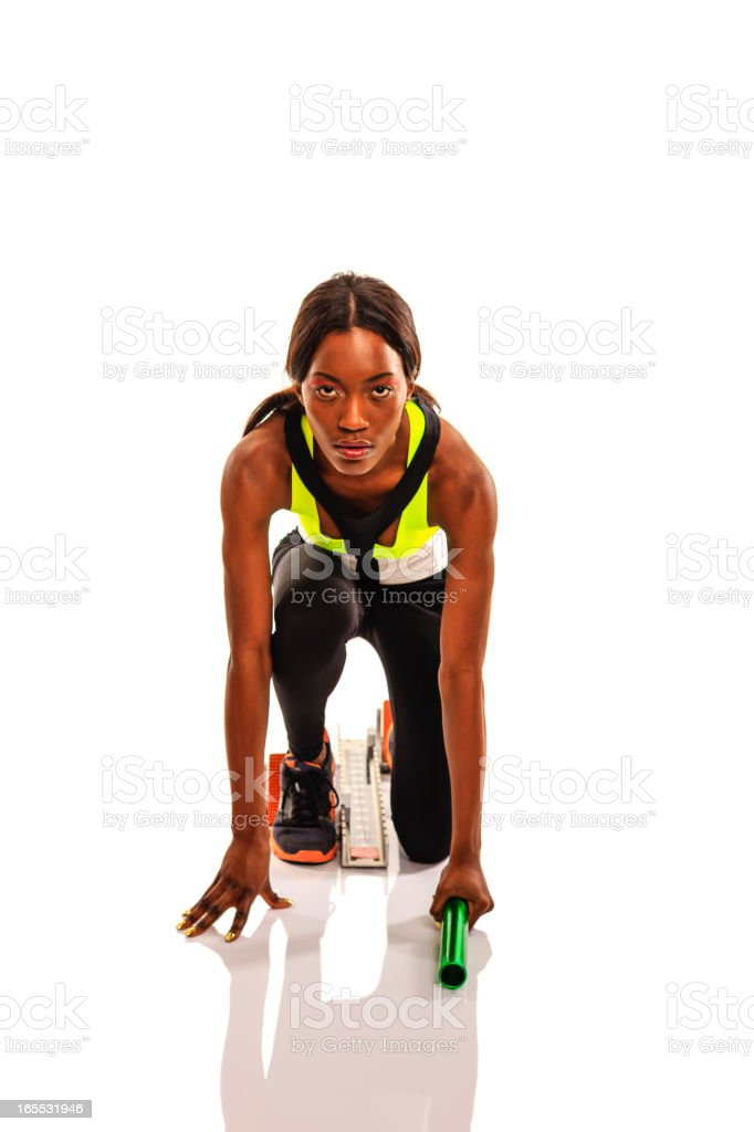 Sprint - Ready, set, go stock photo