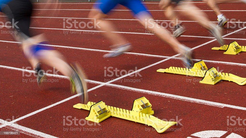 sprint start stock photo