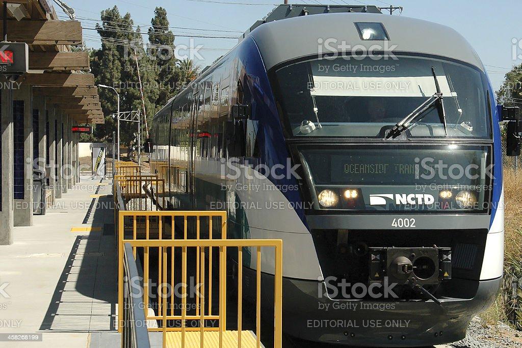 NCTD Sprinter Departing Escondido stock photo
