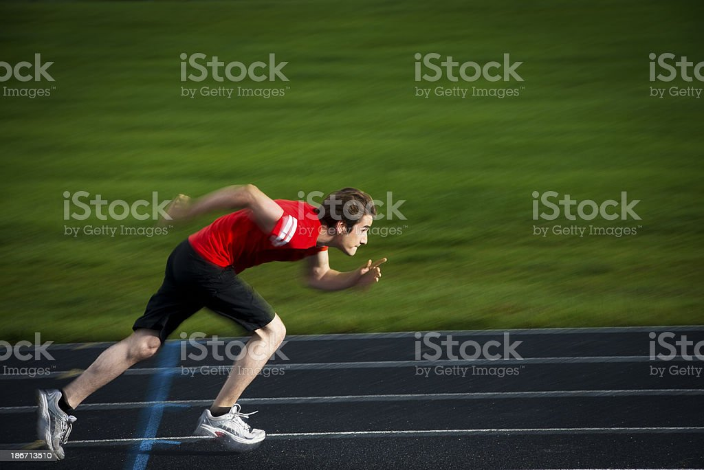 Sprinter on the track royalty-free stock photo