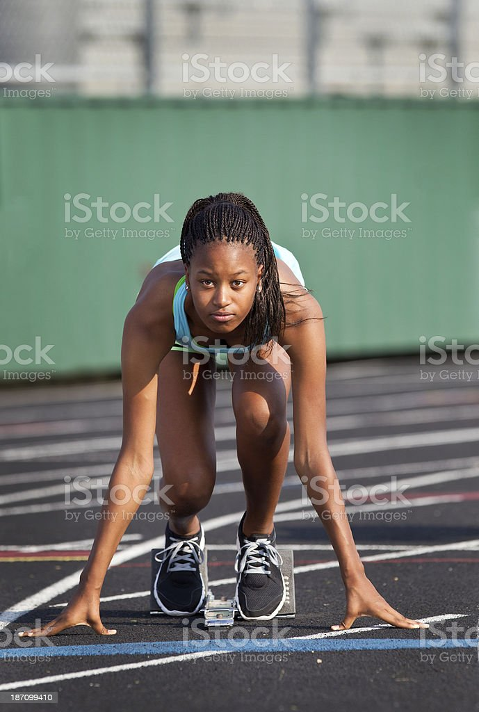 Sprinter stock photo