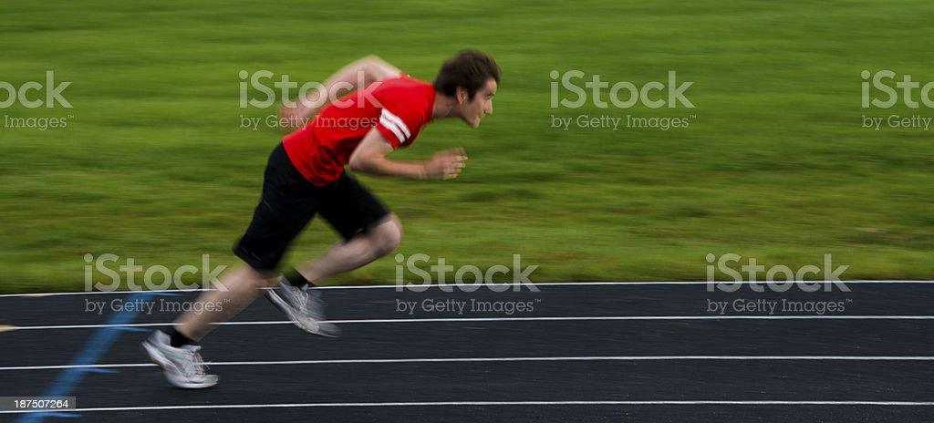 Sprinter Running royalty-free stock photo