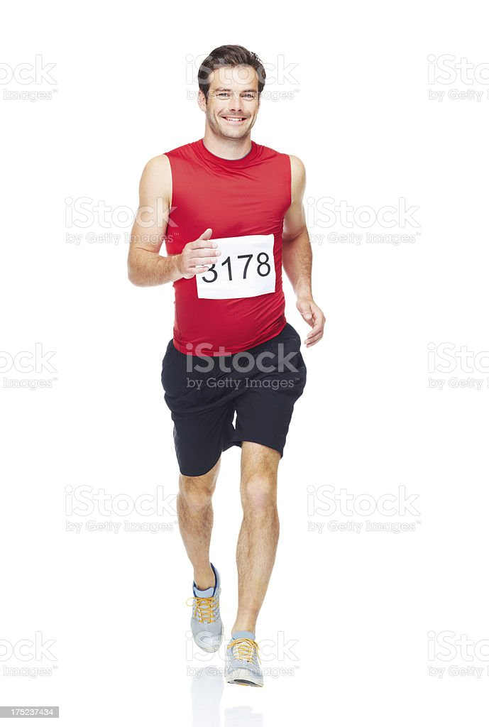 Sprinting to the finish line royalty-free stock photo