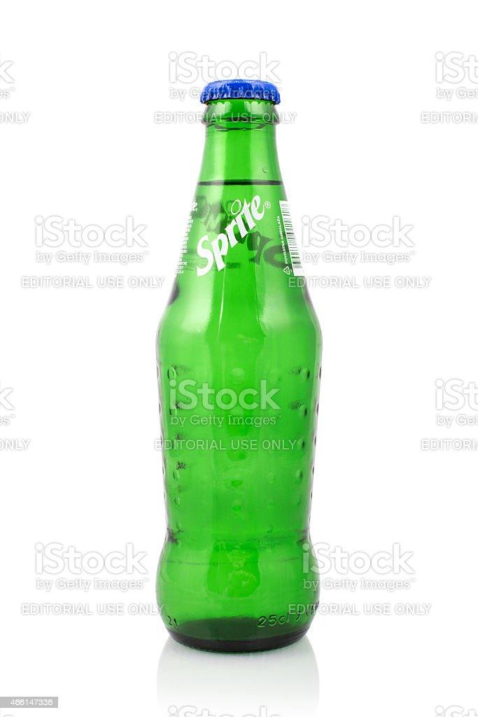 Sprite glass bottle stock photo