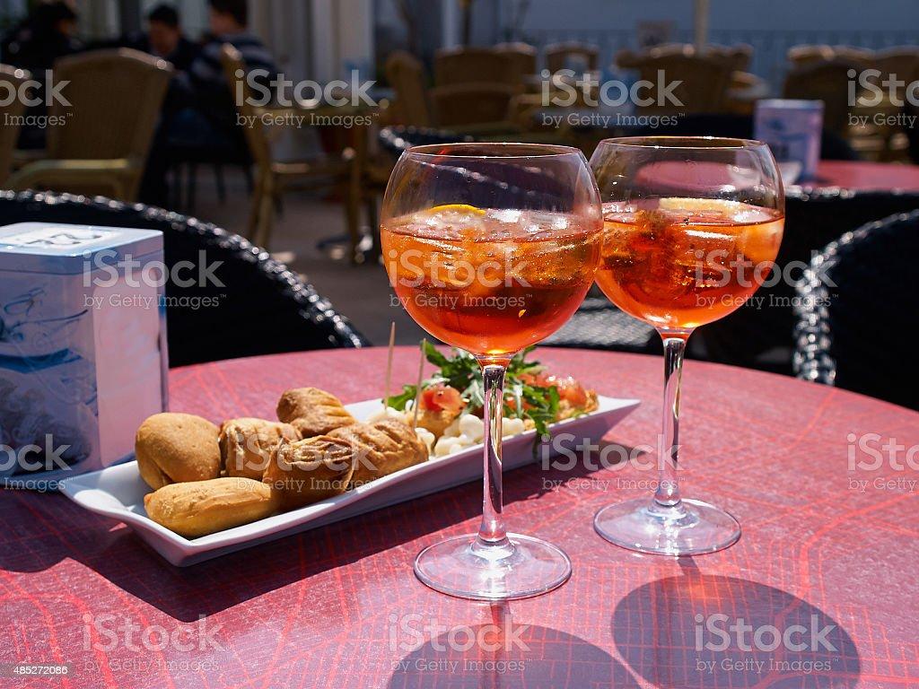 Spritz aperitif in Italy stock photo